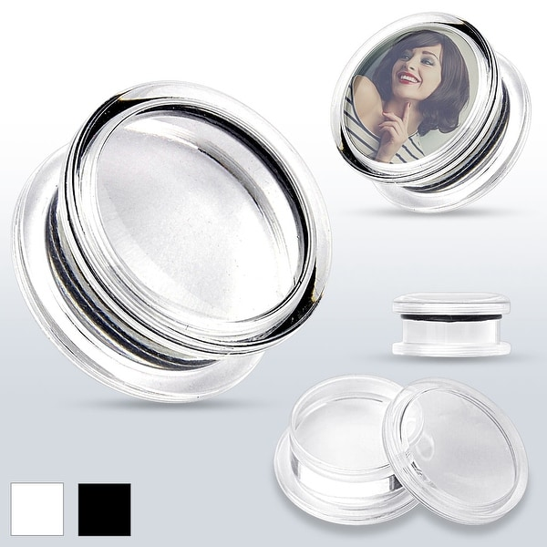 """Add Your Own Image"" Acrylic Double Flared Screw-Fit Plug (Sold Individually)"