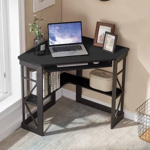 VECELO L-shaped Corner Office Desk