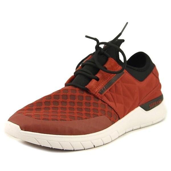 Supra Flow Run Evo Men Round Toe Canvas Red Skate Shoe