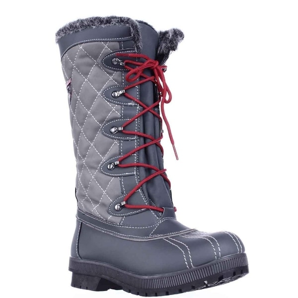 Sporto Camille Waterproof Winter Snow Boots, Grey
