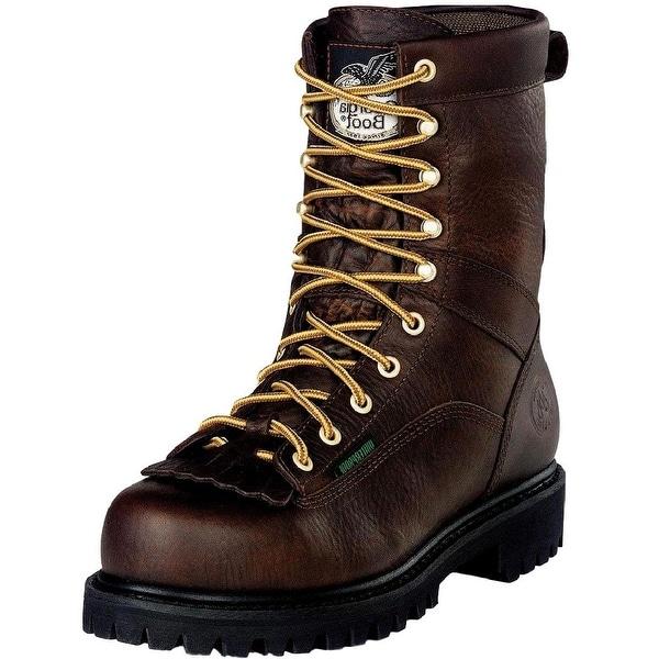 "Georgia Boot Work Mens 8"" Lace Waterproof Goodyear Chocolate"