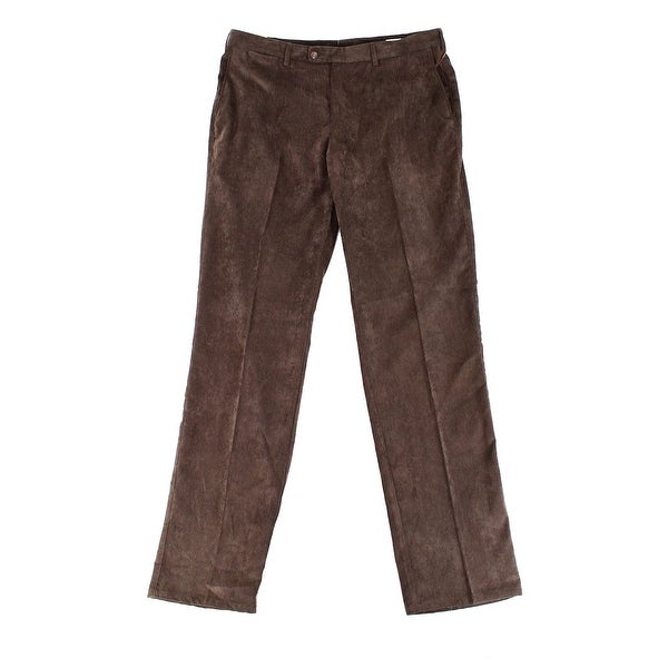 fd8455af6d5686 Shop PETER MILLAR Mens Flat Front Corduroys Stretch Pants - Free Shipping  On Orders Over $45 - Overstock.com - 27047608