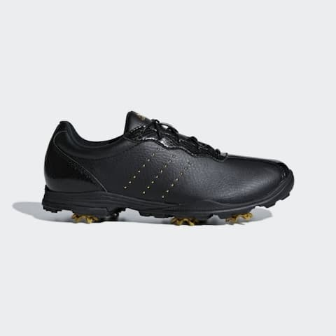New Adidas Women's Adipure DC Black/Gold Met./Black Golf Shoes F33618