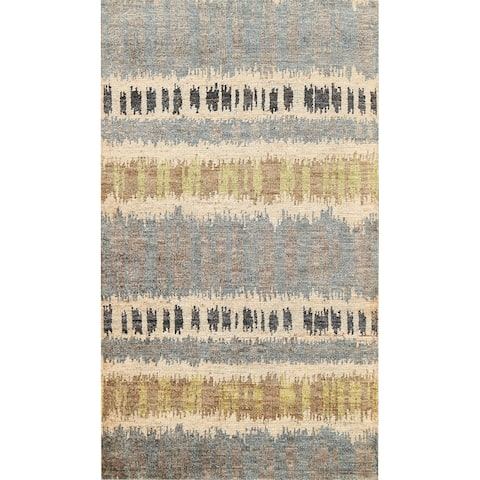 """Contemporary Abstract Oriental Area Rug Hand-knotted Foyer Carpet - 5'1"""" x 7'10"""""""