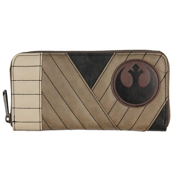 Loungefly x Star Wars The Last Jedi Rey Faux Leather Zip Around Cosplay Wallet - One Size Fits most