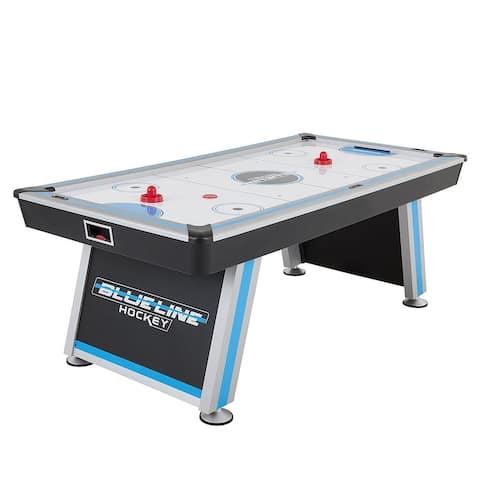 "Triumph Blue Line 84"" Air Hockey Table with Inrail Scoring / 45-6808 - Black"
