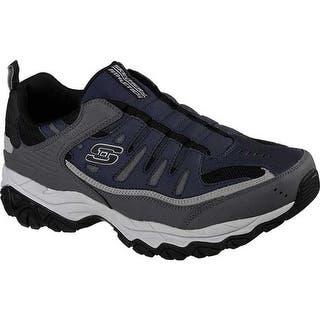 d4e72e56a0c7 Skechers Men s After Burn M. Fit Slip-On Walking Shoe Navy Gray