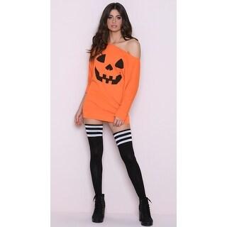 Loose Pumpkin Tank Dress, Orange Pumpkin Dress