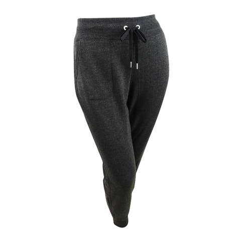 Calvin Klein Performance Women's Plus Size Rib-Trim Jogger Pants