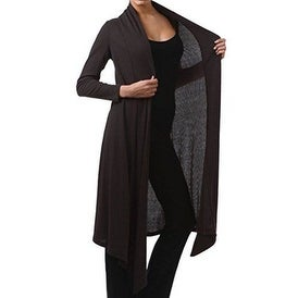 Funfash Plus Size Women Black Kimono Cardigan Duster Sweater Made USA