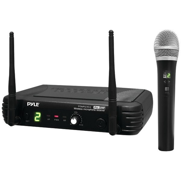 PYLE PRO PDWM1902 Premier Series Professional UHF Wireless Handheld Microphone System with Selectable Frequencies