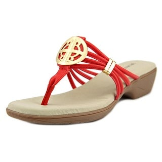 Rialto Kaycee Women Open Toe Synthetic Red Thong Sandal