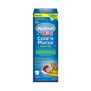Hylands Homeopathic 4Kids Cld N' Mucus Pm 4-ounce