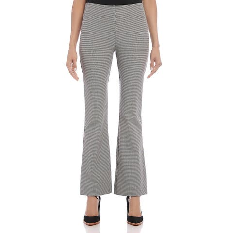 Karen Kane Womens Dress Pants Plaid Boot Cut - Black/White