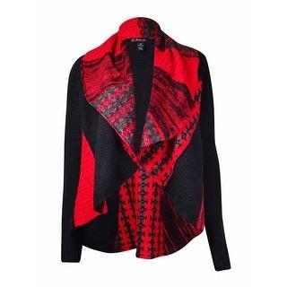 Style & Co. Women's Printed Shawl Cardigan Sweater