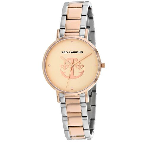 Ted Lapidus Women's Classic A0742YRPX Rose-Tone Dial watch
