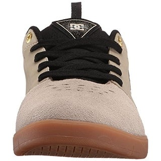 DC Mens Cole Signature Leather Mixed Media Skate Shoes