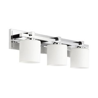 Quorum International 5369-3 3 Light Bathroom Vanity Light with Satin Opal Shades