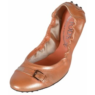 Tod's Women's Metallic Ombre Peach Dee Fibbietta Ballerina Ballet Shoes 36 6