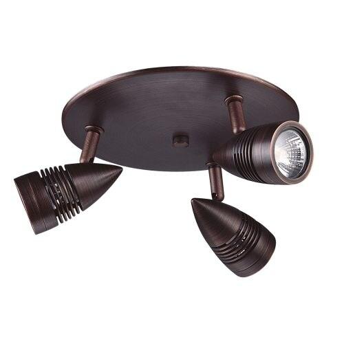 DVI Lighting DVP2783 Three Light Track Light On Pan from the Bullet Collection