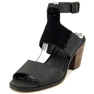 Kelsi Dagger Kary Women Open Toe Leather Black Sandals