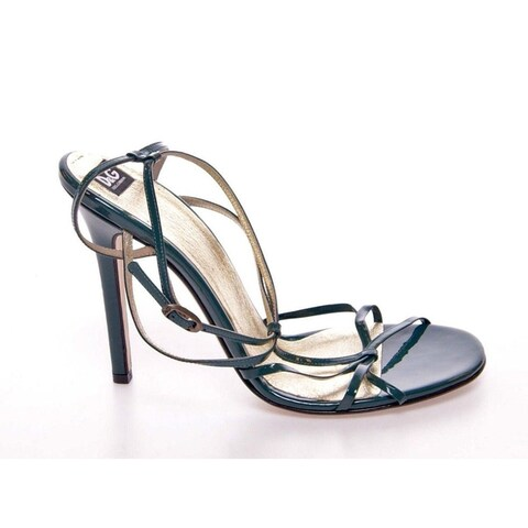 Dolce & Gabbana Green Leather Sandals Pumps Shoes - 37.5