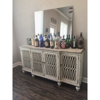 Whitney Aged Cream Accent Cabinet