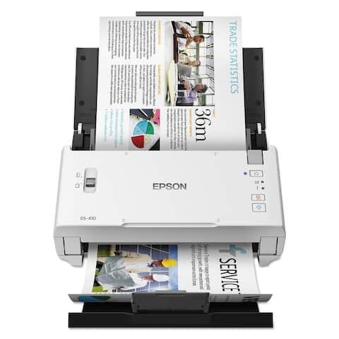 DS-410 Document Scanner, 600 dpi Optical Resolution, 50-Sheet Duplex Auto Document Feeder - Clear