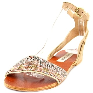 Steve Madden Jewells Women Open-Toe Leather Multi Color Slingback Sandal