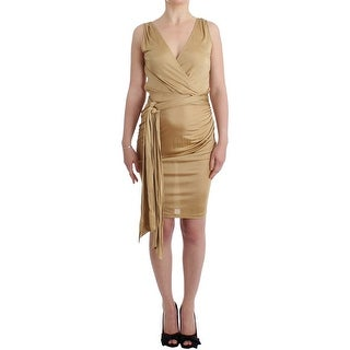 Galliano Galliano Beige wrap coctail dress