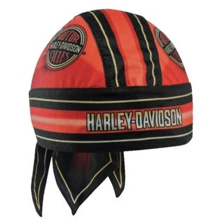 Harley-Davidson Men's Winged H-D Circle Name Headwrap, Red & Black HW23932 - One size