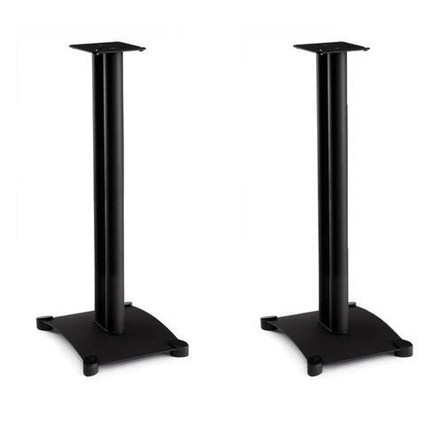 "Sanus SB34 Steel Series 34"" Bookshelf Speaker Stands - Pair (Black) - Black"