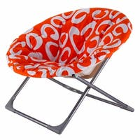 Costway Oversized Large Folding Saucer Moon Chair Round Seat Living Room Furniture