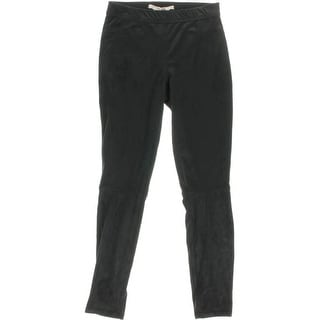 Studio M Womens Jacqueline Casual Pants Faux Suede Fitted - S