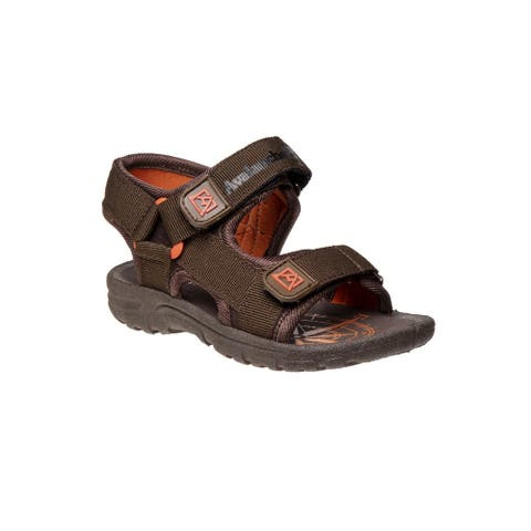 Avalanche Brown Orange Hook And Loop Sport Sandals Little Boys