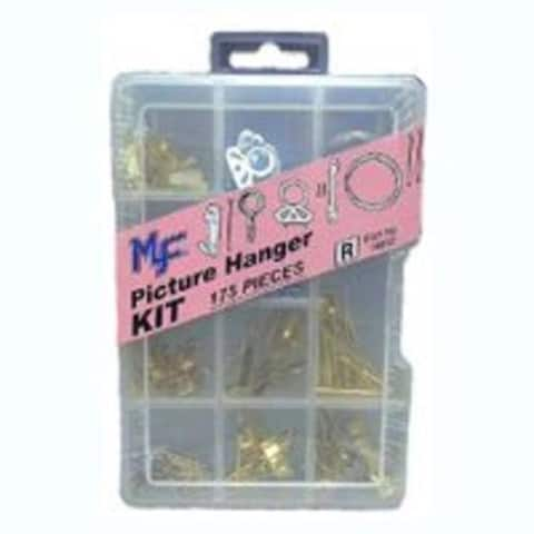 Midwest Products 14992 Picture Hanger Assortment 175 Pc