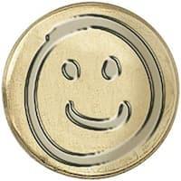 """Smiley Face - Decorative Seal Coin .75"""""""