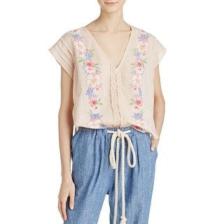 Free People Womens Blouse Floral Print Sleeveless
