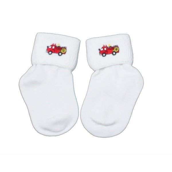 Firetruck Bobby Socks for Infant Boys