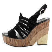 Vince Camuto Womens Onia Leather Open Toe Casual Platform Sandals