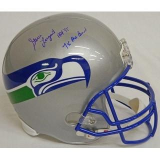 Steve Largent Signed Seahawks T/B Riddell F/S Replica Helmet w/HOF'95 & 7x Pro Bowl