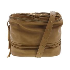 Steve Madden Womens Bkimora Faux Leather Studded Crossbody Handbag - Camel - Medium