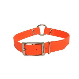 "Remington Waterproof Hound Dog Collar with Center Ring Orange 18"" x 1"" x 0.2""