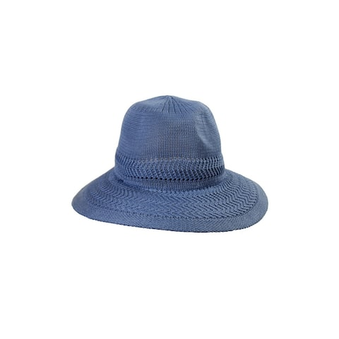 Collection Xiix Chambery Blue Expansion Panama Hat OS