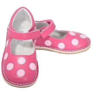 L'Amour Fuchsia Pink Dot Mary Jane Dress Shoe Baby Toddler Girl 4-10