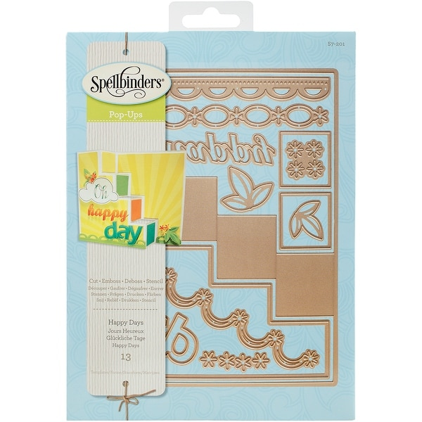 Spellbinders Card Creator Step Card-Happy Days