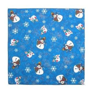 CTM® Women's Snowmen Holiday Christmas Bandana - Navy - One Size