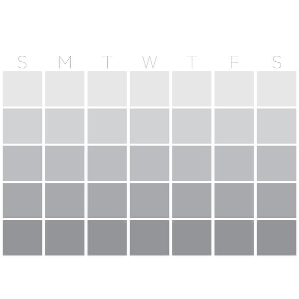 "Brewster WPE2799 WallPops Mondrian 17-1/2"" x 24"" Dry Erase Vinyl Monthly Wall Calendar - Gray"
