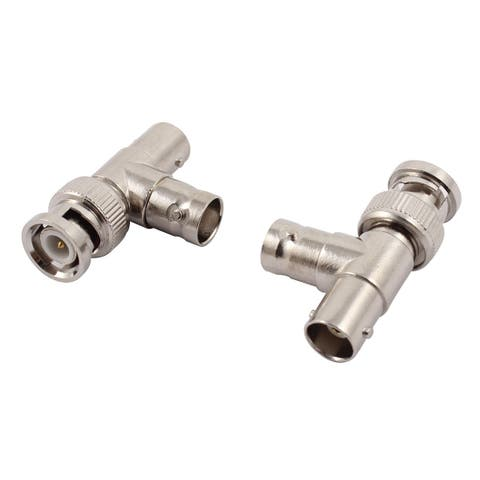 T Shaped Male to 2 Female Plug BNC RF Adapter Coaxial Connector Converter 2pcs