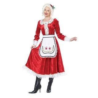 Classic Mrs. Claus Costume (5 options available)